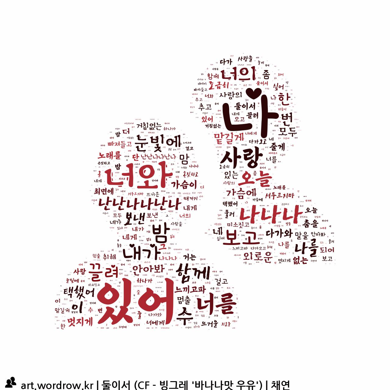 워드 아트: 둘이서 (CF - 빙그레 '바나나맛 우유') [채연]-48